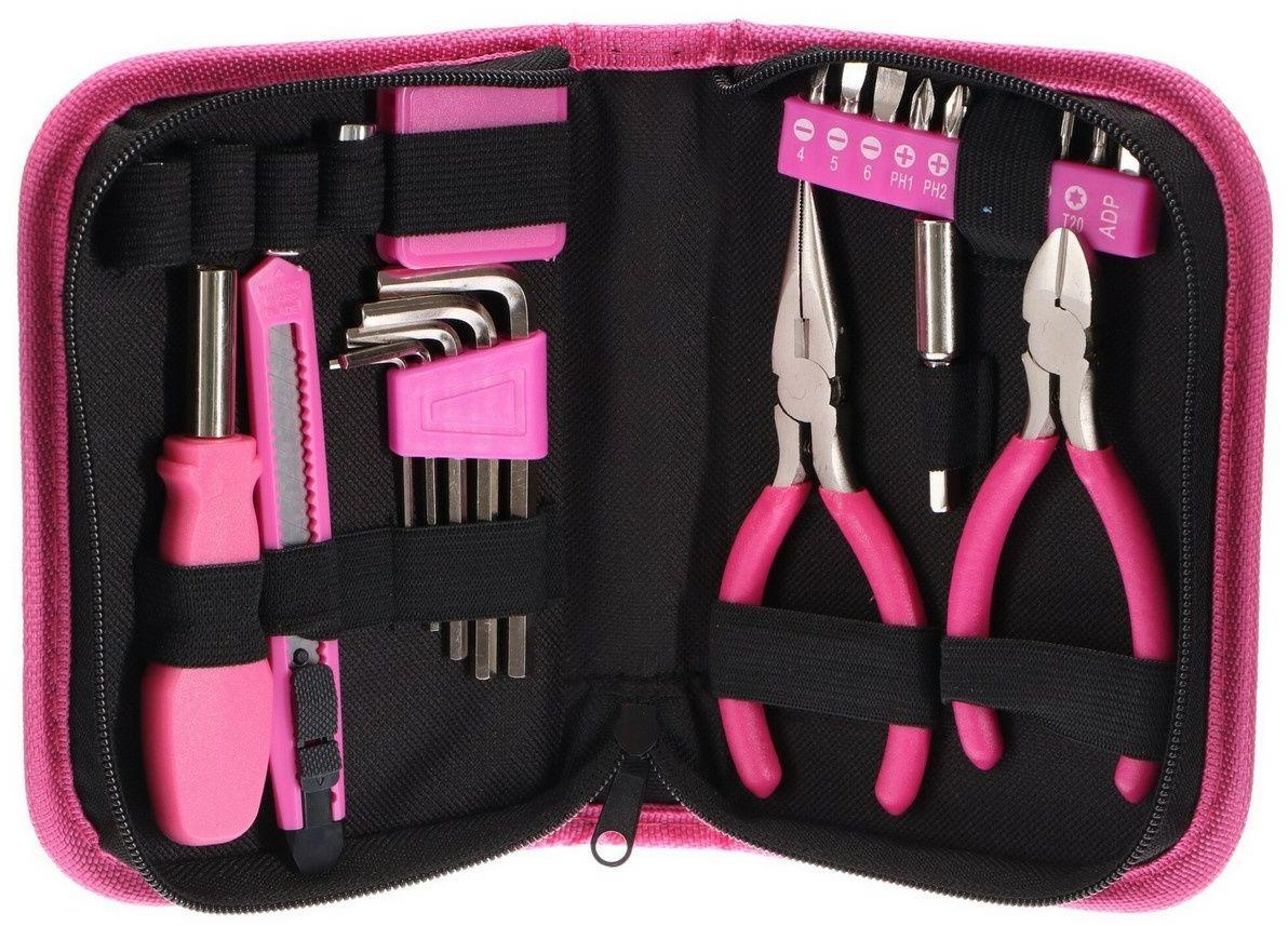 Sixtol Zestaw narzędzi Home Pink, 26 szt.