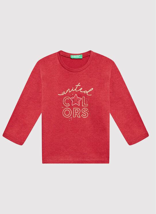 Bluzka 3EG9C15FF Czerwony Regular Fit