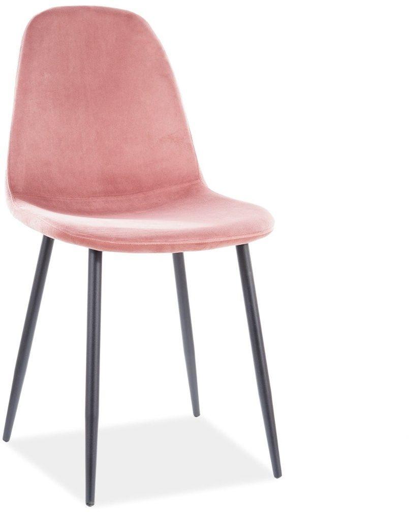 Krzesło FOX VELVET antyczny róż tapicerowane nowoczesne  KUP TERAZ - OTRZYMAJ RABAT