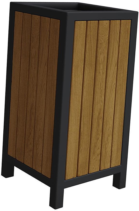 Drewniany kosz na śmieci Norin - 24 kolory