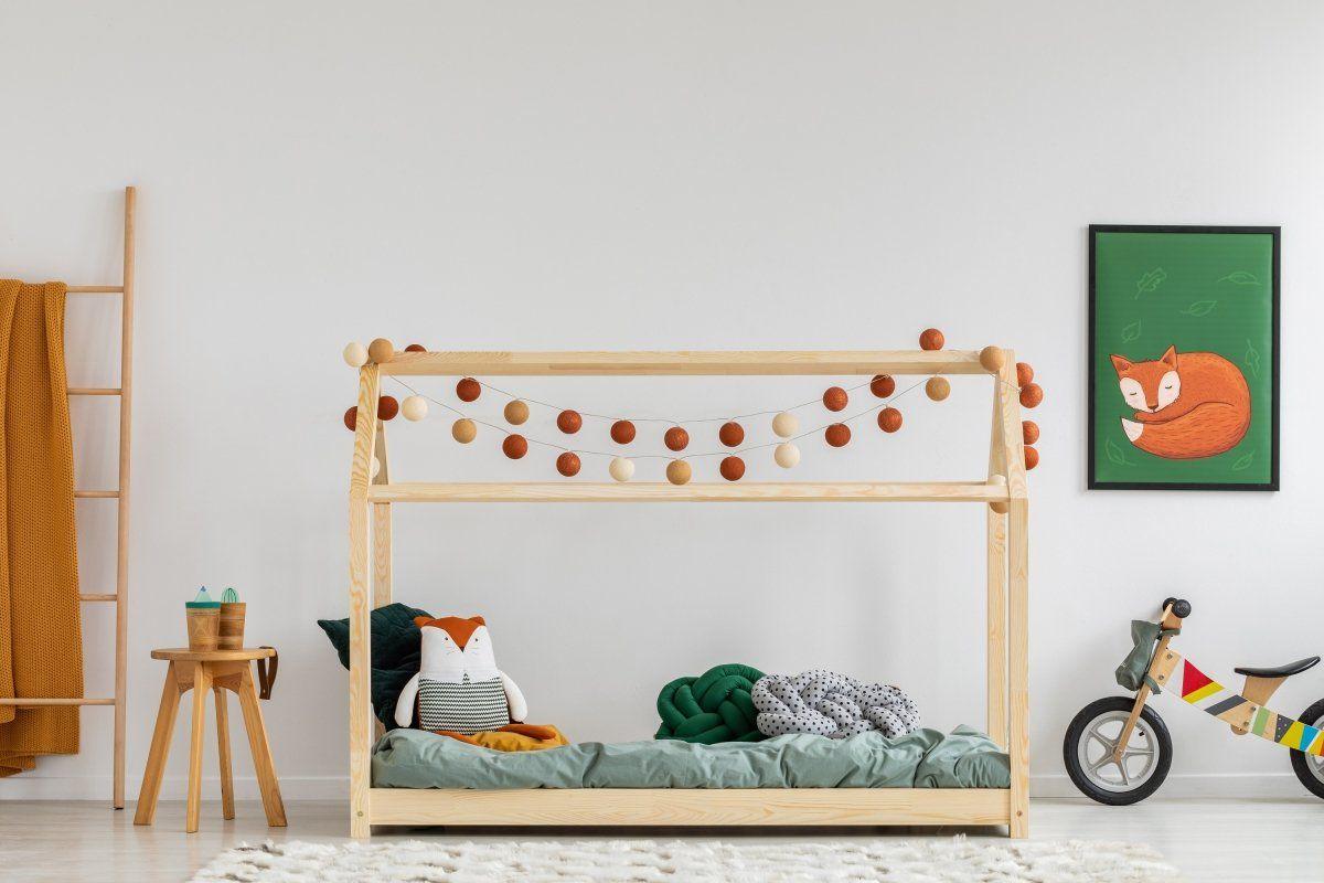 Łóżko dziecięce MILA M 70x140 sosna domek  KUP TERAZ - OTRZYMAJ RABAT