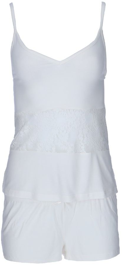 Damska bambusowa piżama SOFIA Kremowy XL