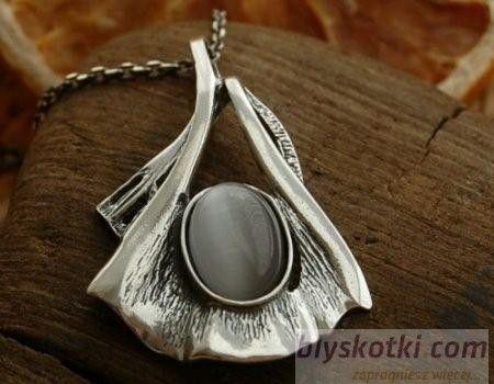 Lobelia - srebrny wisior z kocim oczkiem