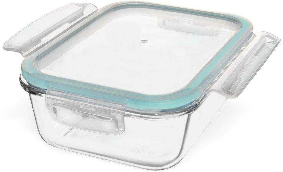 Pojemnik na żywność, szklany, hermetyczny, 20x15 cm