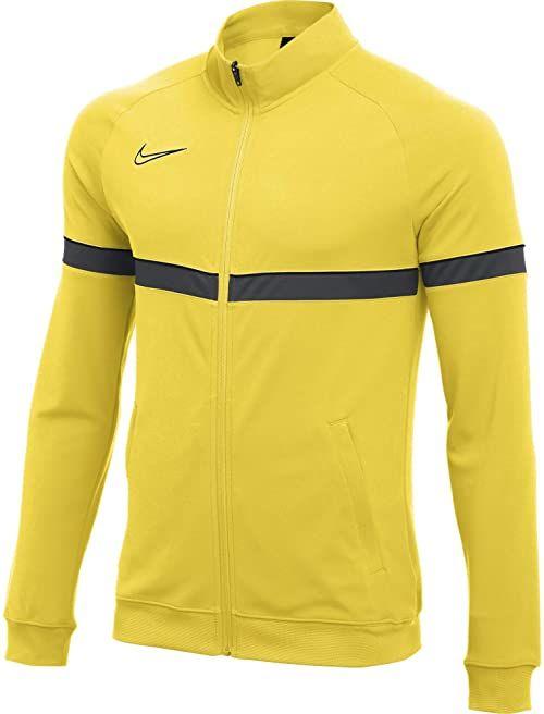 Nike Męska kurtka dresowa Dri-FIT Academy 21, Tour Yellow/czarny/antracytowy/czarny, XL