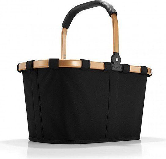 Koszyk carrybag czarny ze złotą ramą