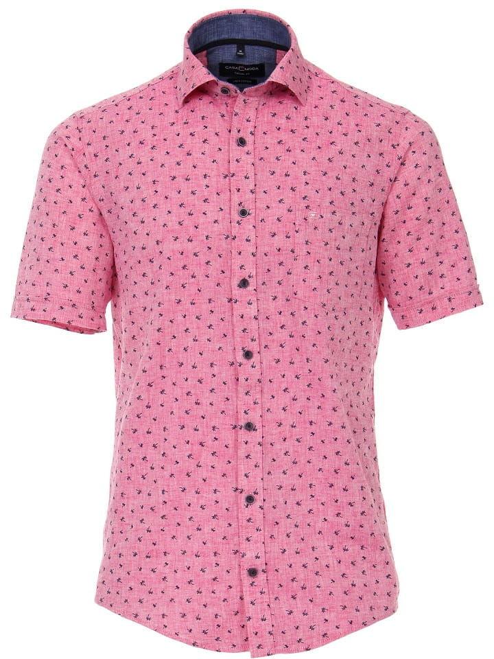 CASAMODA 9700 Duża Koszula Lniana Różowa