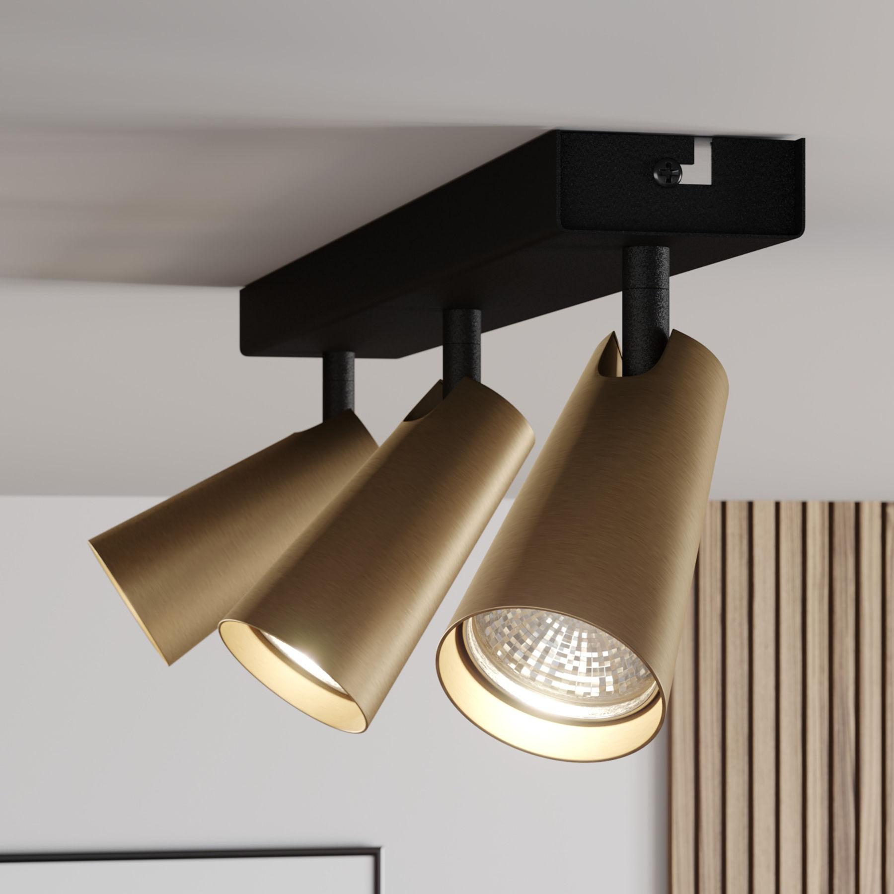 Lucande Angelina lampa sufitowa mosiądz-złota 3pkt