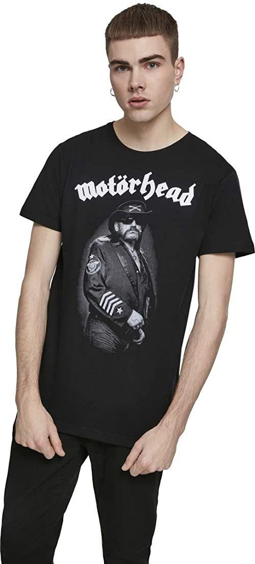Motörhead Lemmy Kilmister Band Tee t-shirt męski z nadrukiem portretowym czarny czarny XS