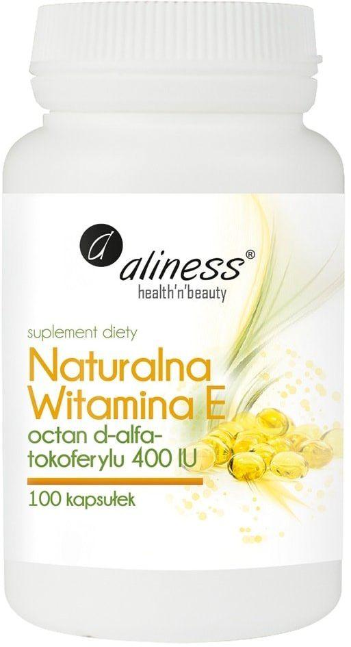 Naturalna witamina E 400IU (100 kaps) Aliness