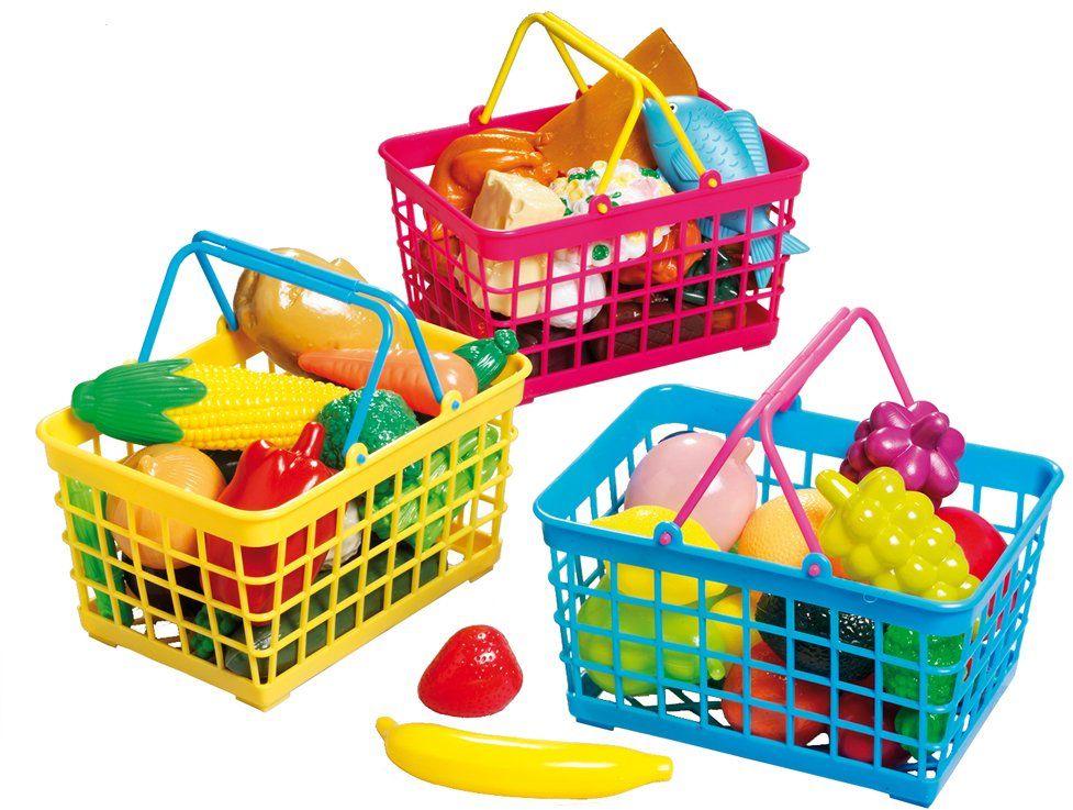 Happy People 45003 koszyk na zakupy z uchwytami, wielokolorowy