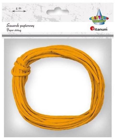 Sznurek papierowy 3.5mmx5m pomarańczowy - Titanum