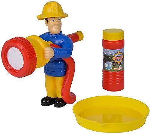 Simba 109252439 strażak Sam figurka/funkcja 2 w 1 do baniek mydlanych i piany/55 ml ługu