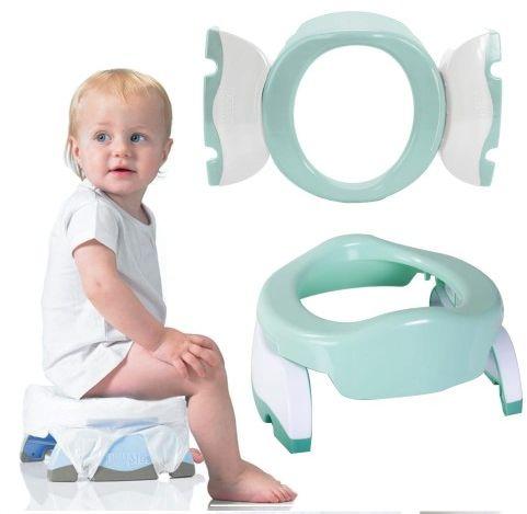 Nocnik 2w1 nakładka na toaletę miętowa Potette Plus