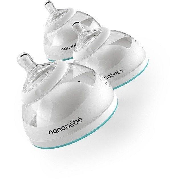 Butelka Nanobebe do karmienia / przechowywania pokarmu 150 ml - 3 szt. - turkusowa