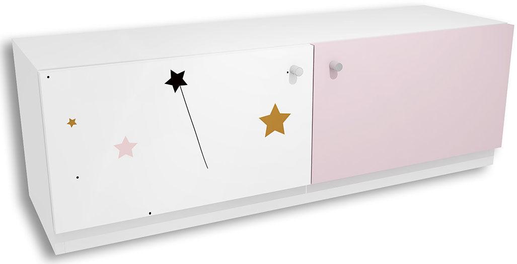 Komoda dla dziecka z kolorową grafiką Peny 7X - 4 kolory