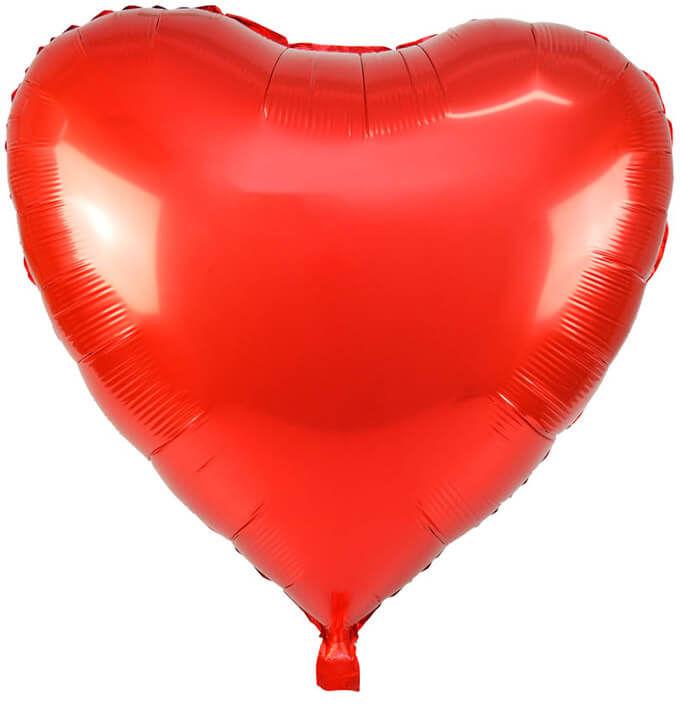 Balon foliowy Serce czerwone - 65 cm - 1 szt.
