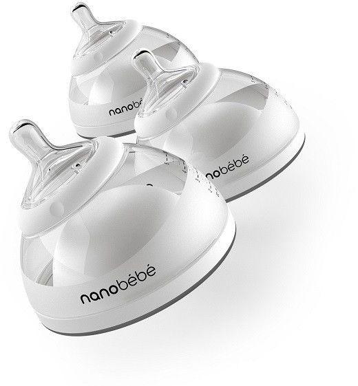 Butelka Nanobebe do karmienia / przechowywania pokarmu 150 ml - 3 szt. - szara