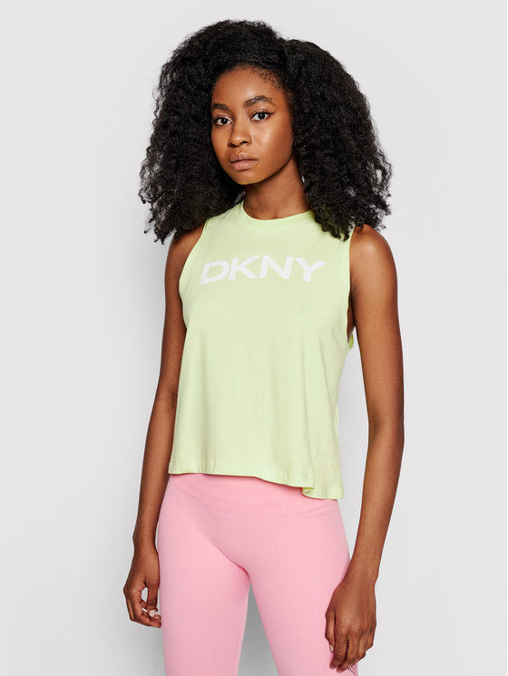 DKNY Sport Top DP1T8084 Zielony Relaxed Fit