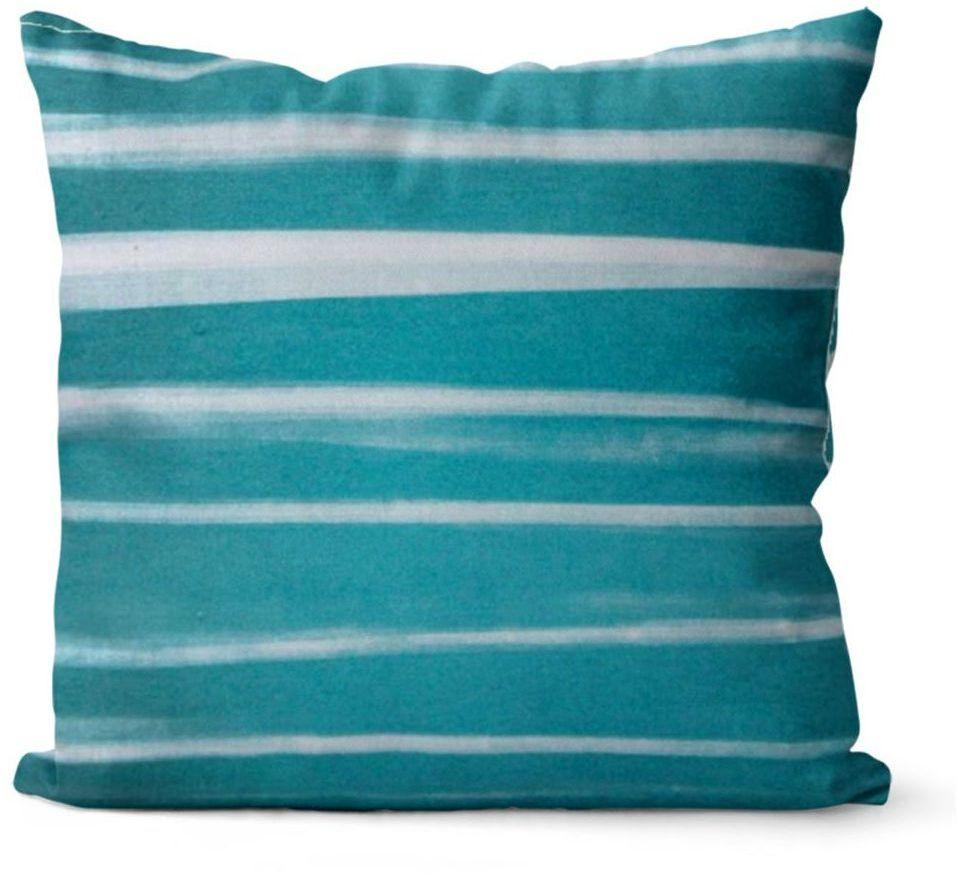 Poduszka Love Stripes niebieska 45 x 45 cm
