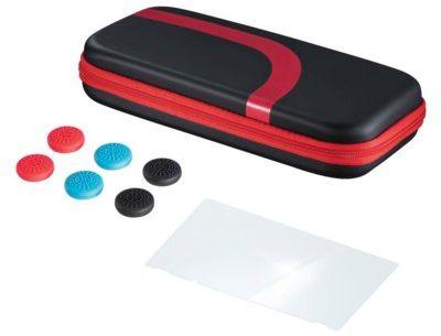 Etui HAMA 3w1 do Nintendo Switch Czarno-czerwony