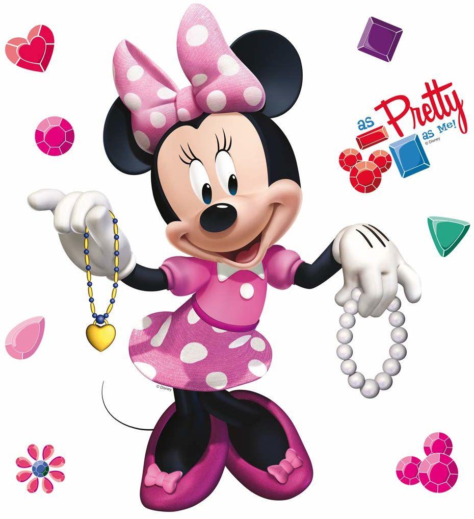 AG Design Disney Minnie Maus pokój dziecięcy naklejka ścienna, folia PVC (ftalate-Free), wielokolorowa, 30 x 30 cm