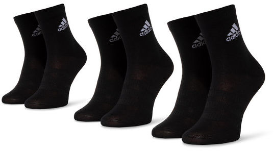 adidas Zestaw 3 par niskich skarpet unisex Light Crew 3pp DZ9394 Czarny