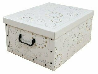 Compactor Pudełko do przechowywania składane Ring, 50 x 40 x 25 cm, biały