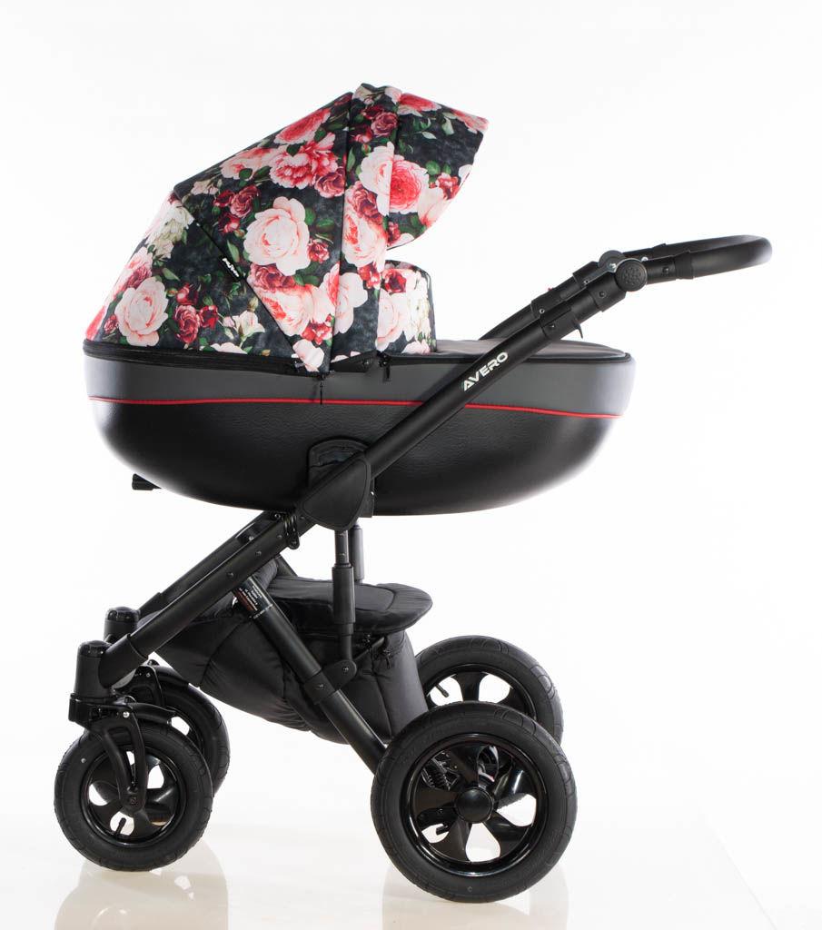 Avero II - kol. Roses Red - 3w1 - Wózek dziecięcy - Kajtex