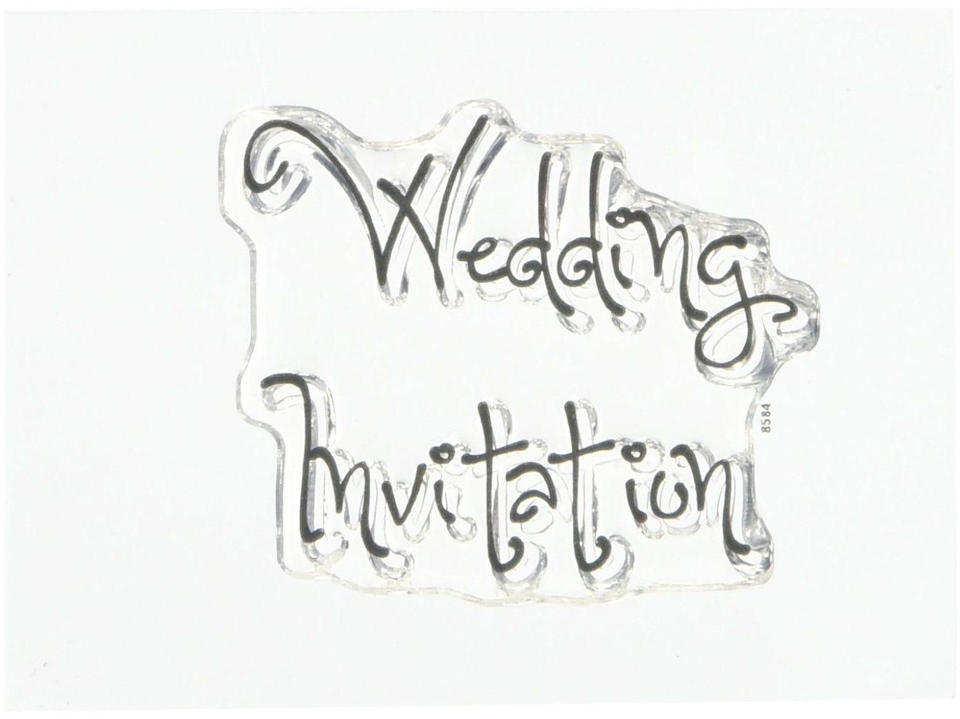 Naczynia do drewna czysta magiczna minis tylko słowa - zaproszenie na ślub, akryl, około 9 x 7 cm