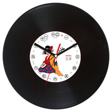 Zegar płyta winylowa grająca geisha