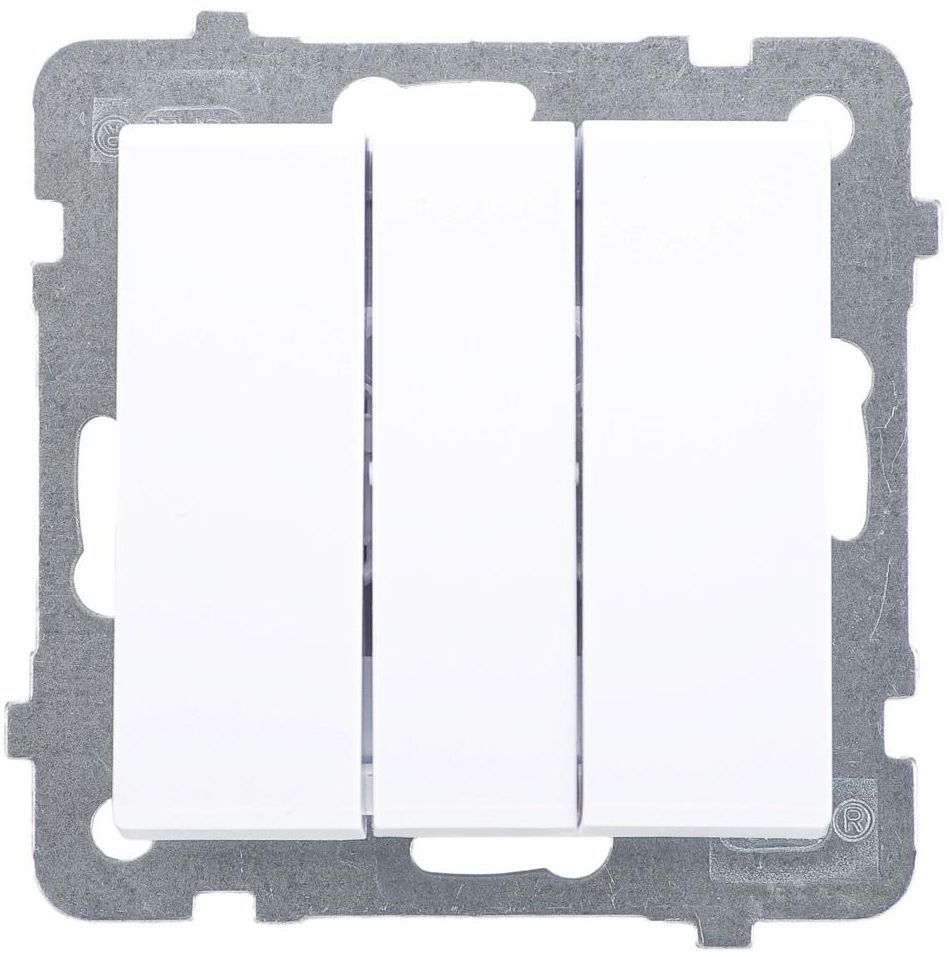 Włącznik podwójny SONATA Biały OSPEL