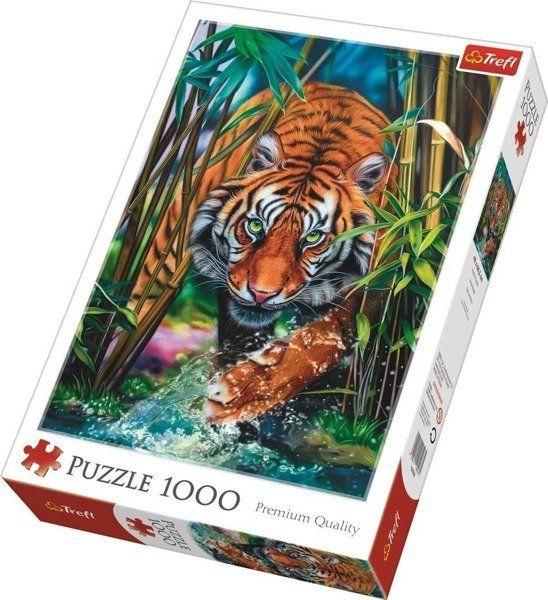 Puzzle 1000 Drapieżny tygrys TREFL