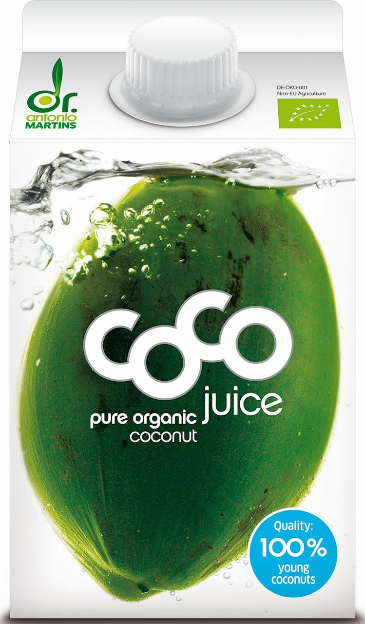 Woda kokosowa naturalna bio 500 ml - coco dr. martins