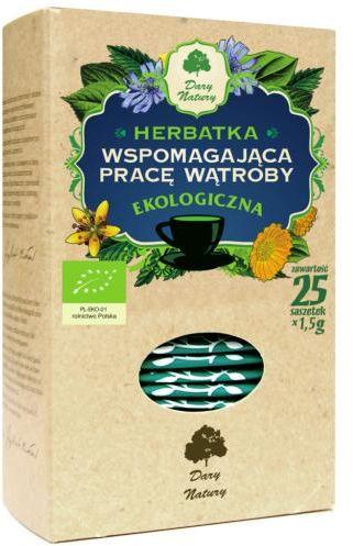 Herbatka wspomagająca PRACĘ WĄTROBY BIO (25 x 1.5 g) Dary Natury