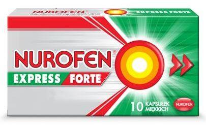 Nurofen Express Forte 400mg 10 kapsułek miękkich