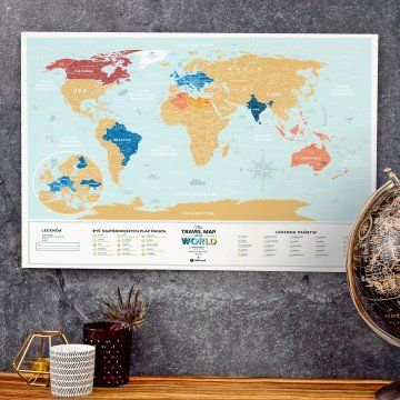 MAPA ZDRAPKA Travel Map  Lagoon World
