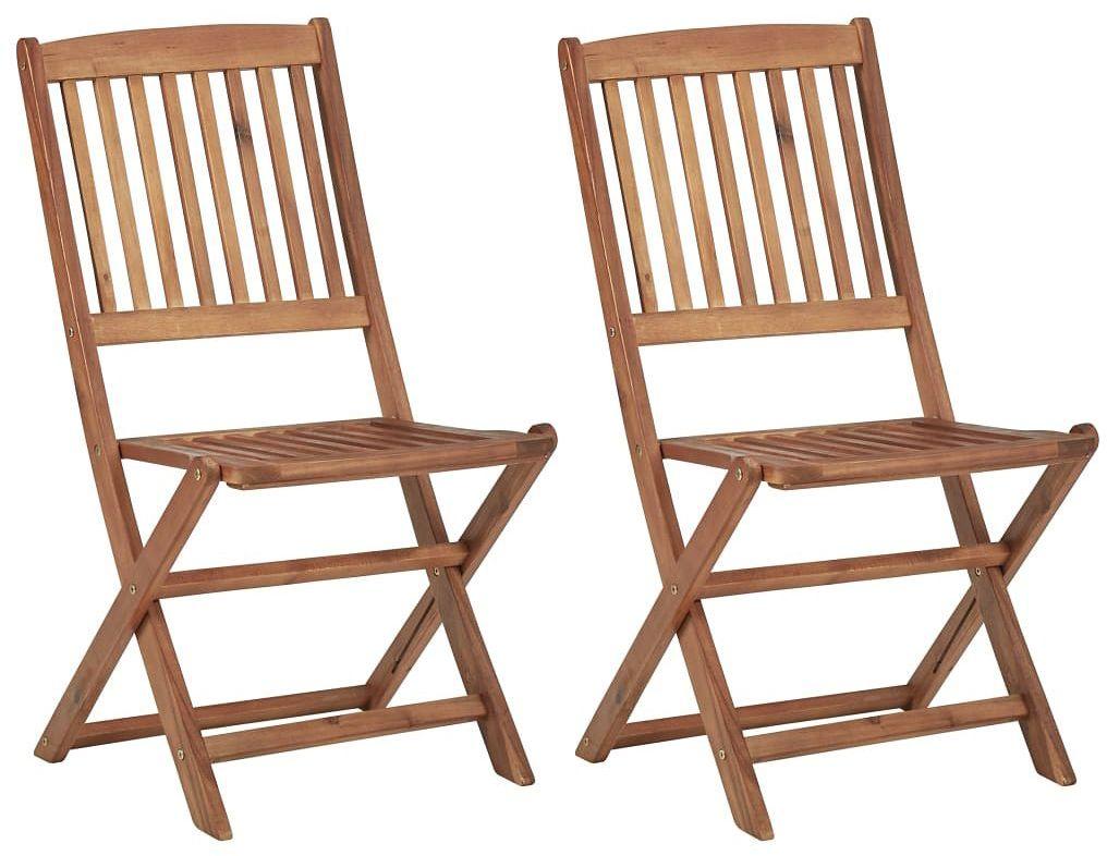 Krzesła ogrodowe akacjowe Mandy - 2 szt.