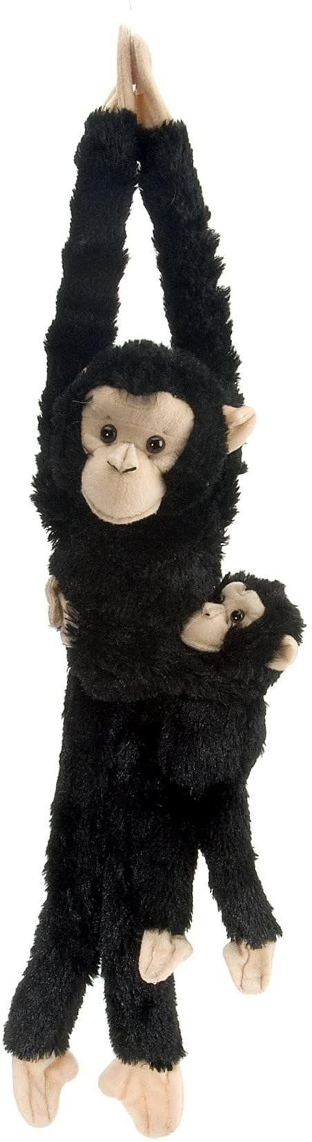 Wild Republic 51 cm wisząca małpa szympa mama z pluszowym dzieckiem