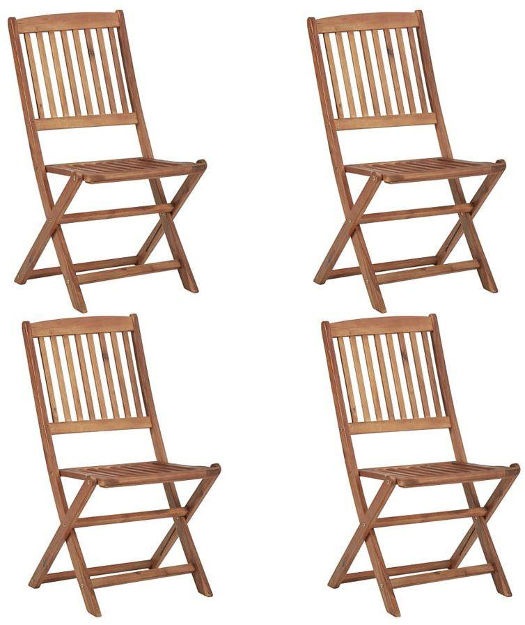 Drewniane krzesła ogrodowe Mandy - 4 szt.