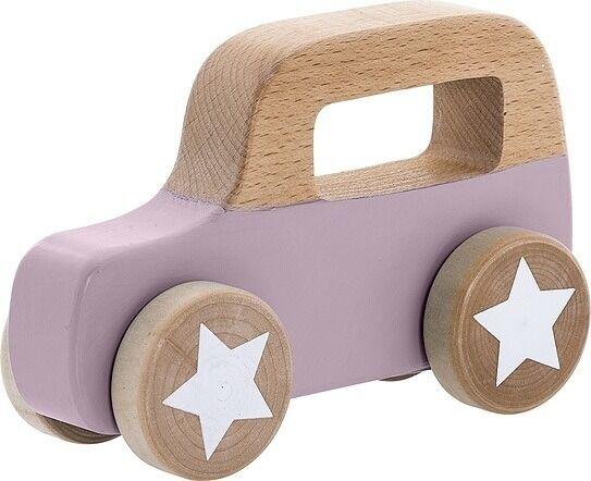 Zabawka samochód bloomingville fioletowa drewniana