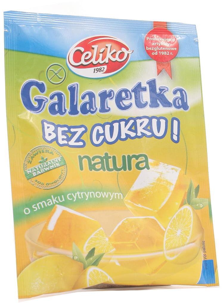 Galaretka cytrynowa bez cukru - bezglutenowa - Celiko - 14g