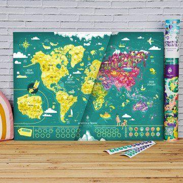 Mapa Zdrapka Świata Dla Dzieci