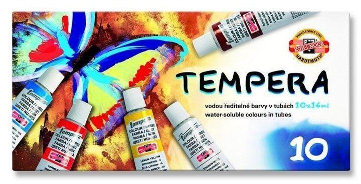 Farby Tempera 10 kolorów