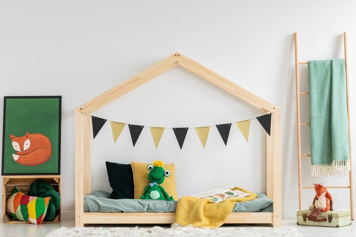 Łóżko dziecięce MILA RM 80x160 sosna ze stelażem i barierką  KUP TERAZ - OTRZYMAJ RABAT