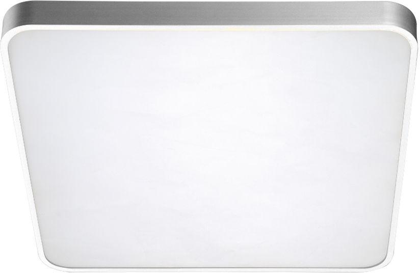 Plafon Quadro 50 CCT AZ2758 AZzardo kwadratowa oprawa w kolorze srebrnym