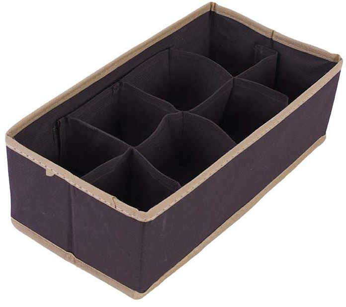 Organizer do szuflady brąz 29 x 15 x 9 - Brąz