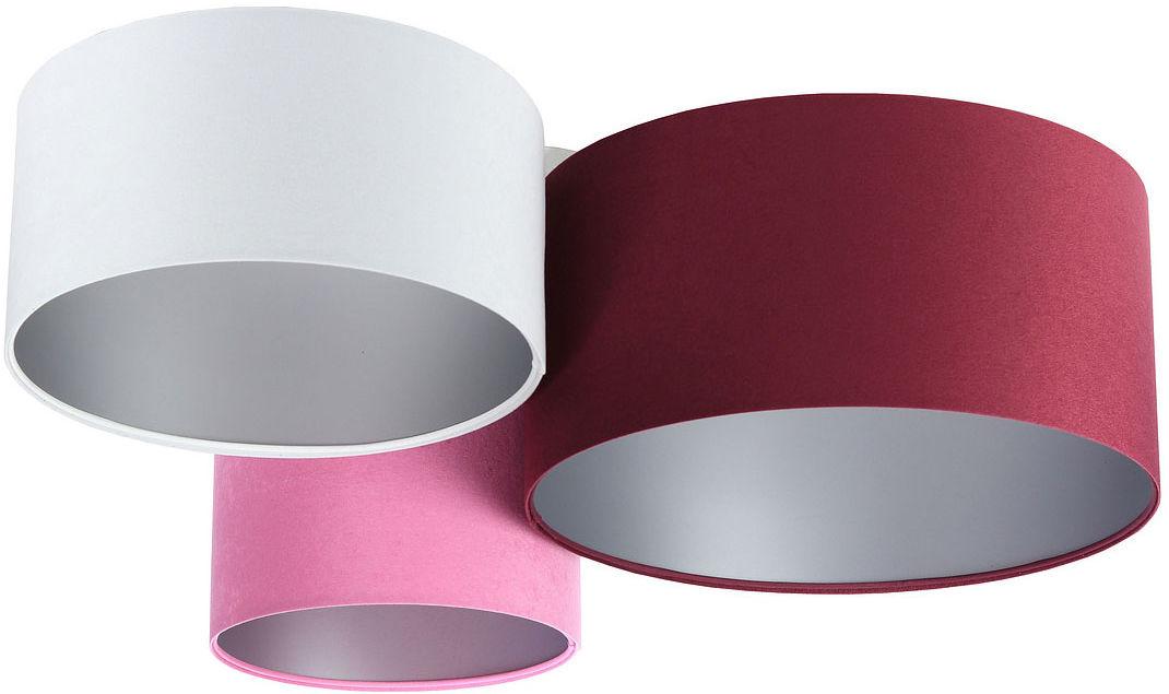 Kolorowa plafoniada ze srebrnym wnętrzem abażura - EXX55-Oskel