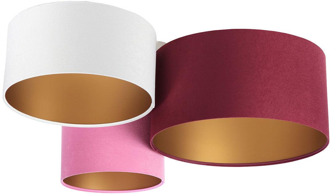 Kolorowa plafoniada ze złotym wnętrzem abażura - EXX55-Oskel