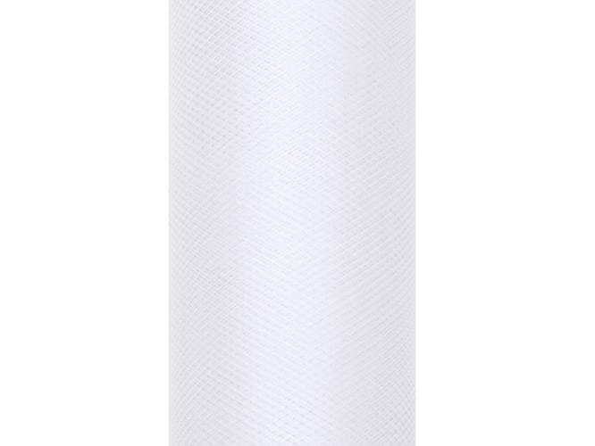 Tiul gładki biały - 30 cm x 9 metrów - 1 szt.